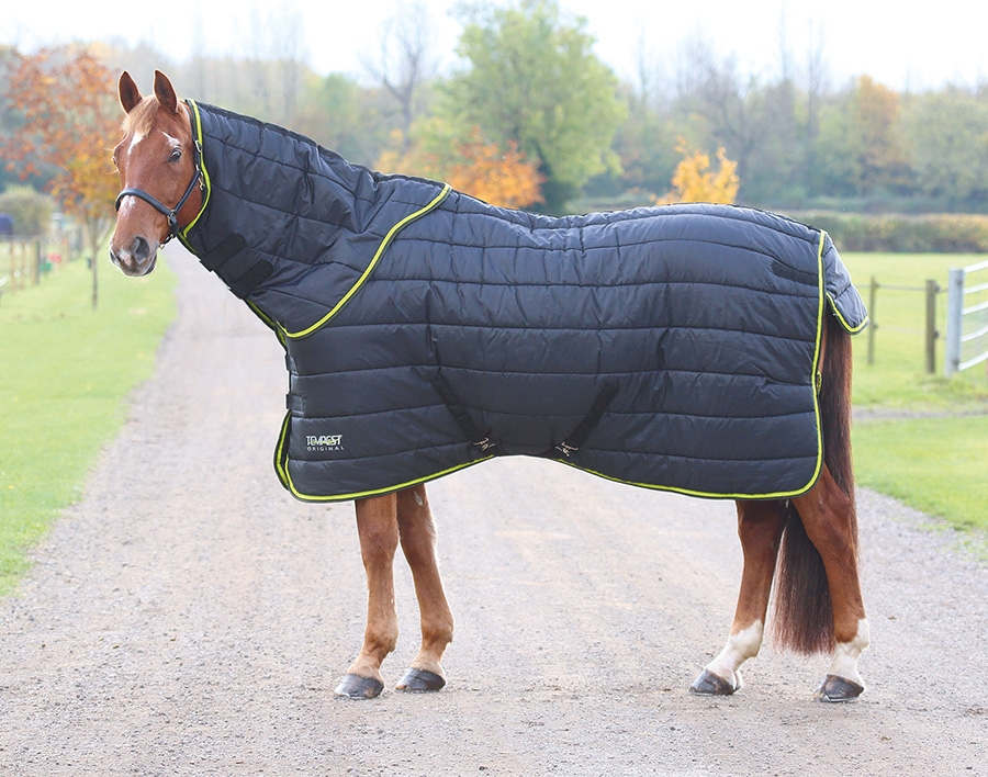 Shires Tempest Original 300g Heavyweight Combo Le Rug Neck Set Black Lime