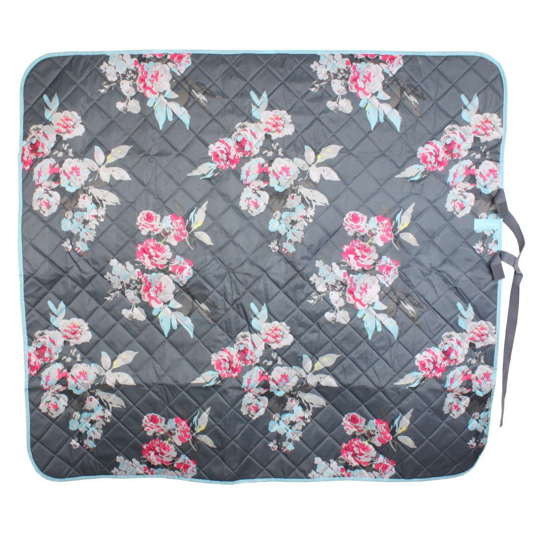 Joules Picnic Rug Grey Floral | Naylors.com