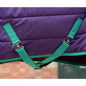 WeatherBeeta ComFiTec 210D Channel Quilt 220g Medium Weight Combo Neck Stable Rug Bright Purple/Green