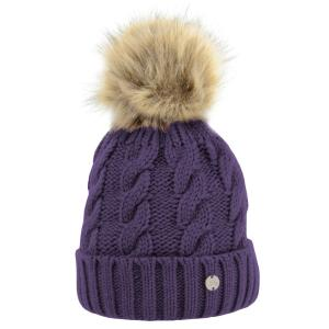 Hy HyFASHION Melrose Cable Knit Bobble Hat Damon