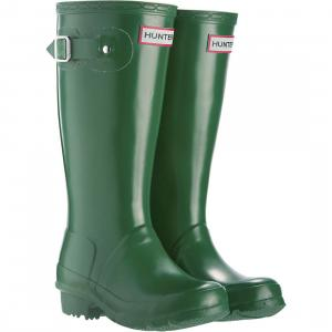 Hunter Kids Original Wellington Boots Green