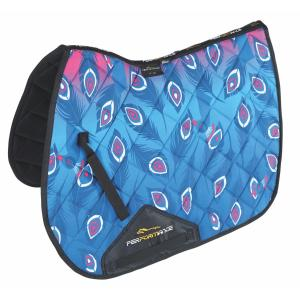 Shires Performance Sport XC Saddlecloth Pink Peacock