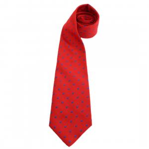 ShowQuest Adults Medium Spot Show Tie Red/Royal Blue