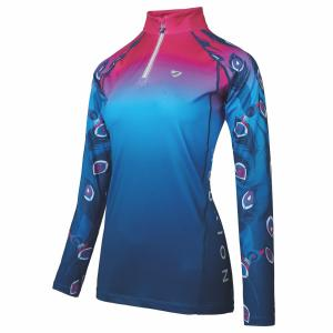 Aubrion Ladies Hyde Park Cross Country Shirt Pink Peacock