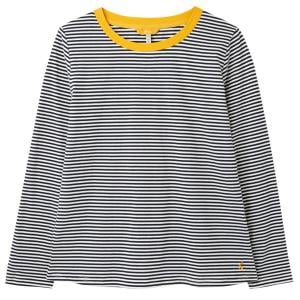 Joules Ladies Selma Long Sleeve Tee Navy Stripe