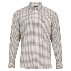 Alan Paine Mens Aylesbury Shirt Red Check