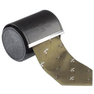 Alan Paine Country Ripon Silk Tie Bird and Dog Olive