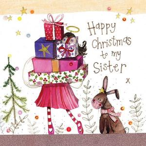 Alex Clark Sparkle Christmas Card Sister