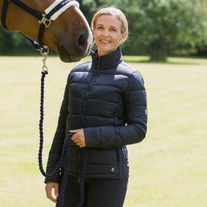 Horze Ladies Alicia Lightweight Padded Club Jacket Dark Navy