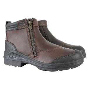 Ariat® Ladies Barnyard Side Zip Riding Boots Dark Brown
