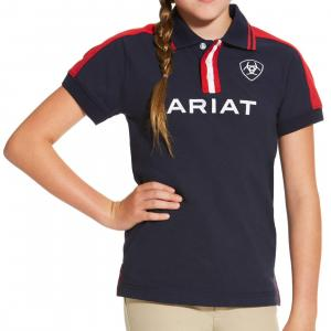 Ariat® Childs Team Polo Navy