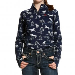 Ariat® Childs Lowell 2.0 Zip Baselayer Shadow Pasture Print