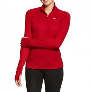 Ariat® Ladies Lowell 2.0 1/4 Zip Baselayer Laylow Red