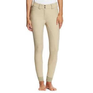 Ariat® Ladies Tri Factor Grip Full Seat Breeches Tan
