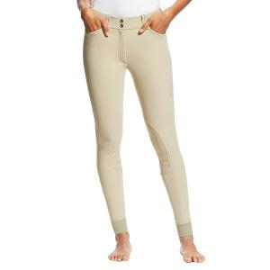 Ariat® Ladies Tri Factor Grip Knee Patch Breeches Tan