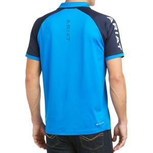 Ariat® Mens Team 3.0 Short Sleeve Polo Imperial Blue
