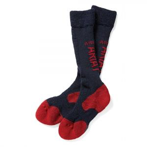 Ariat® Tek Alpaca Performance Socks Navy/Red