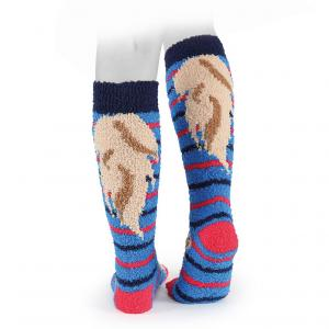 Aubrion Childs Fluffy Socks Coloured
