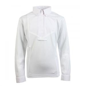 Aubrion Childs Long Sleeve Tie Shirt White