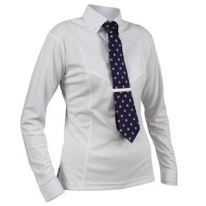 Shires Aubrion Childs Long Sleeve Tie Shirt White