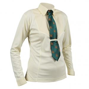 Aubrion Childs Long Sleeve Tie Shirt Yellow