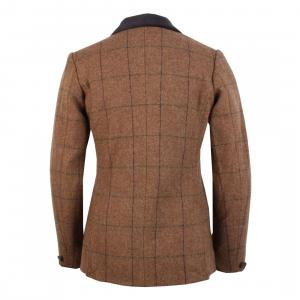 Aubrion Childs Saratoga Tweed Jacket Brown Herringbone