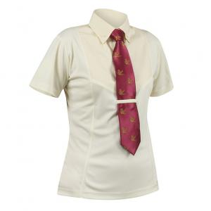 Shires Aubrion Childs Short Sleeve Tie Shirt Yellow