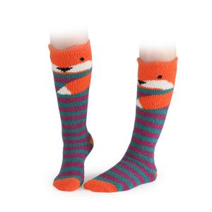 Shires Childrens Fluffy Socks Fox