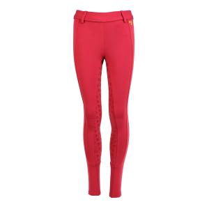 Aubrion Ladies Albany Full Seat Riding Tights Red
