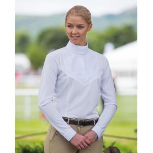 Aubrion Ladies Long Sleeve Stock Shirt White