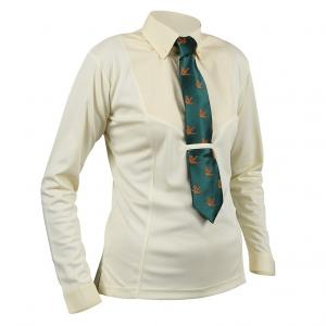 Aubrion Ladies Long Sleeve Tie Shirt Yellow