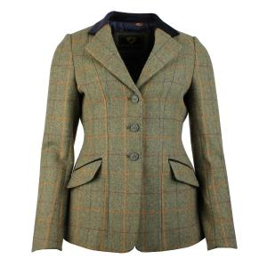 Aubrion Ladies Saratoga Tweed Jacket Red/Yellow/Blue Check