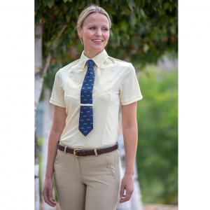 Shires Aubrion Ladies Short Sleeve Tie Shirt Yellow