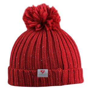 Aubrion Ladies Wilson Bobble Hat Red