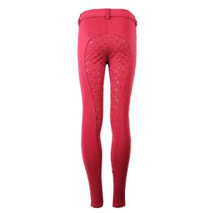 Aubrion Maids Albany Full Seat Riding Tights Red
