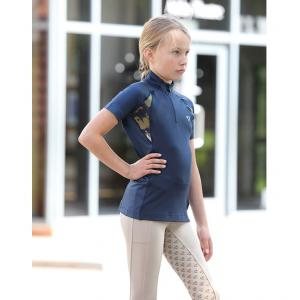 Aubrion Maids Highgate Short Sleeved Baselayer Navy