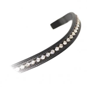 Aviemore Large Diamante Browband Black