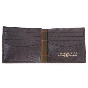 Barbour Amble Leather Billfold Wallet Dark Brown