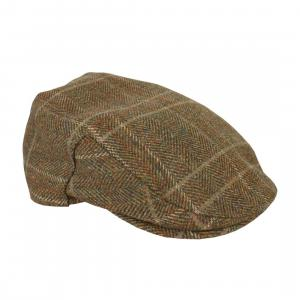 Barbour Mens Crieff Cap Olive/Mixed Herringbone