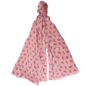 Barbour Dog Print Wrap Rose/Tan