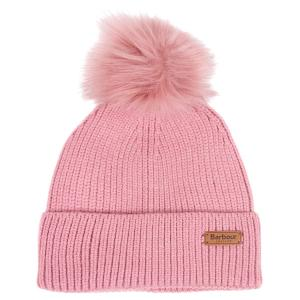 Barbour Dover Pom Beanie Blush Pink