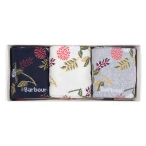 Barbour Ladies Floral Fern Sock Gift Box Mixed