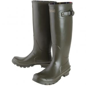 Barbour Ladies Bede Wellington Boots Olive