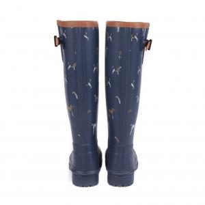 Barbour Ladies Blyth Wellington Boots Navy Print