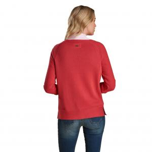 Barbour Ladies Carisbrooke Knit Sweater Pomegranate
