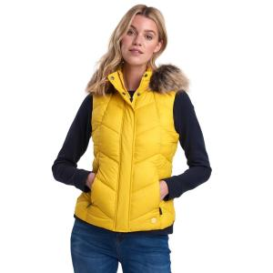 Barbour Ladies Downhall Gilet Sulphur Yellow