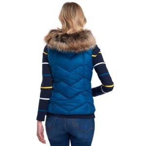 Barbour Ladies Downhall Gilet Tide Blue/Navy