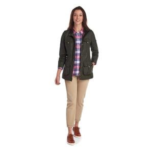 Barbour Ladies Flowerdale Wax Jacket Archive Olive Classic
