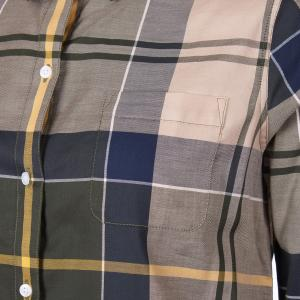 Barbour Ladies Homeswood Shirt Olive Check