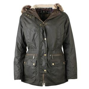Barbour Ladies Kelsall Wax Parka Jacket Olive Classic